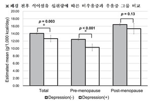 폐경 전식이 섬유 섭취로 여성 우울증 감소